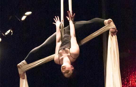 Aerial Silk classes at DanceWorks Performing Arts