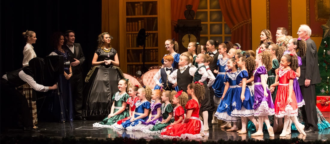 The family in The Nutcracker presented by Friends of DanceWorks with Vancouver City Ballet & DanceWorks Performing Arts
