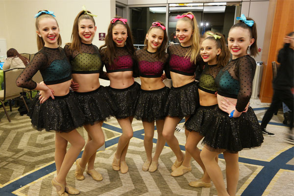 DanceWorks Performing Arts company dancers at NYCDA competition